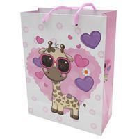 Imagen de Bolsa de regalo chica, en papel satinado, PACK x12, diseños surtidos