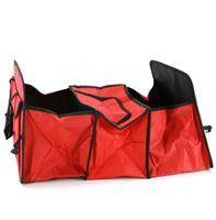Imagen de Organizador para maletero con asas, plegable, 3 divisiones, una con cierre mantiene temperatura, bolsillos laterales, en bolsa