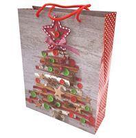 Imagen de Bolsa de regalo chica,en papel satinado, PACK x12, diseños navideños