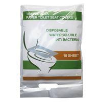 Imagen de Cubre asiento cobertor para inodoro descartable, x10, en bolsa