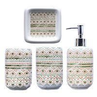 Imagen de Dispensador de jabón de cerámica, con accesorios, en caja, varios colores