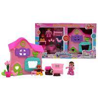 Imagen de Casa para muñecas, con muñecos y muebles, en caja