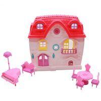Imagen de Casa para muñecas, con muebles, en bolsa