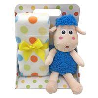 Imagen de Peluche oveja, con manta para bebé, en caja