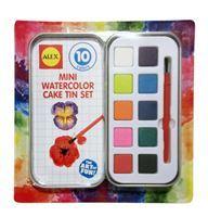 Imagen de Acuarela 10 colores en caja de lata, ALEX