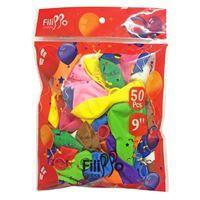 "Imagen de Globo 9"" FILIPPO multicolor, bolsa x50"