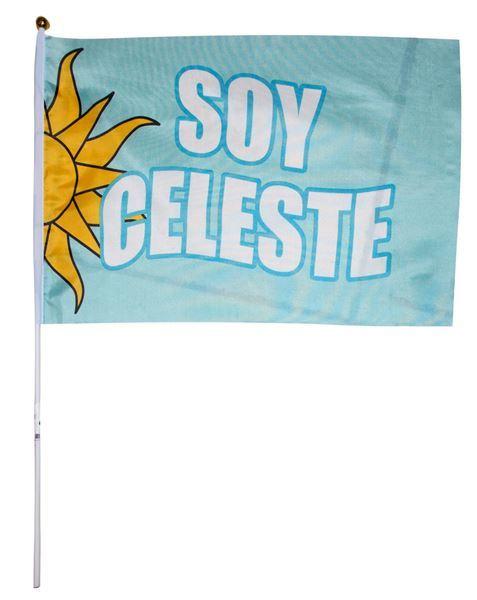 Imagen de Bandera con asta, SOY CELESTE