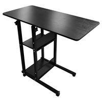 Imagen de Mesa escritorio NEGRO, con estantes, hierro y mdf