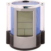 Imagen de Despertador digital y portalápices con luces de colores.
