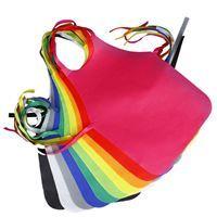 Imagen de Babero delantal de TNT en bolsa, varios colores