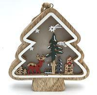 Imagen de Adorno navideño árbol para mesacon luz