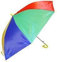 Imagen de Paraguas infantil automático multicolor, con chifle, 8 varillas