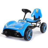 Imagen de Auto kart a pedal AZUL, ruedas de plástico, varios colores, en caja