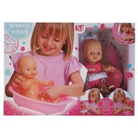 Imagen de Bebote con bañito y accesorios, toma la mamadera y hace pis, en caja