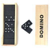 Imagen de Dominó, 28 fichas de madera, en caja de madera