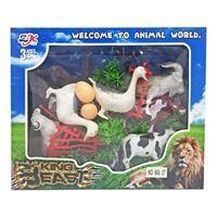 Imagen de Animales de granja x8, con accesorios, en caja